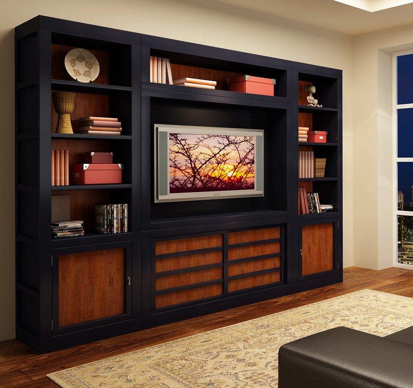 Muebles de televisión de estilo oriental. decoración del hogar.