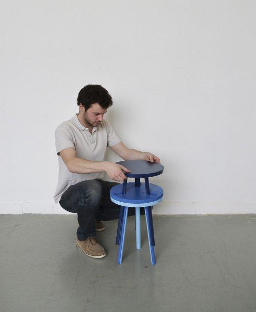 Muebles apilables de Paul Menand. Decoración del hogar.