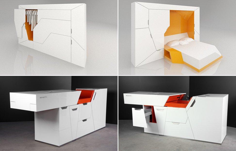 Funcionales y minimalistas muebles boxetti decoraci n del for Dormitorios funcionales