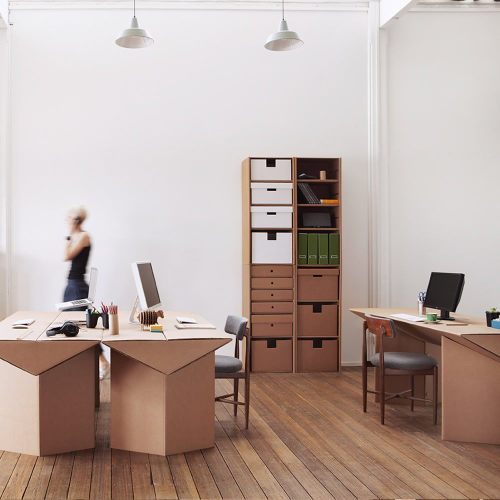 Muebles ecol gicos en cart n muebles de cart n de la - Carton para muebles ...