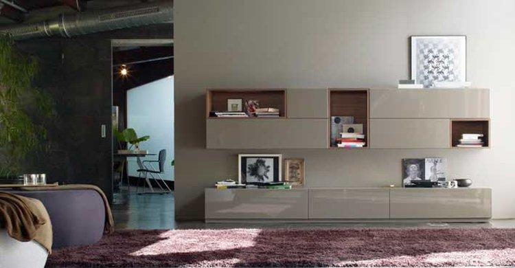 Muebles de salón de la firma Treku. Decoración del hogar.