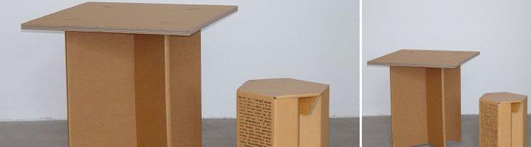 Muebles en cart n decoraci n del hogar - Mesas de carton ...