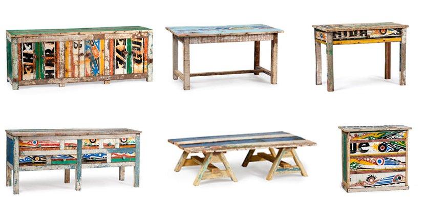 Muebles africanos de diseño reciclados de la firma Artlantique ...