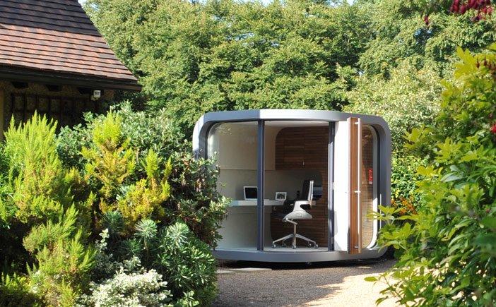 Officepod, cabaña para trabajar desde tu propia casa. decoración ...