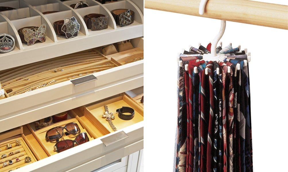 Consejos para organizar y optimizar el espacio en los - Accesorios para armarios roperos ...