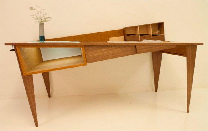 escritorio asim trico de sim n cabrol decoraci n del hogar. Black Bedroom Furniture Sets. Home Design Ideas