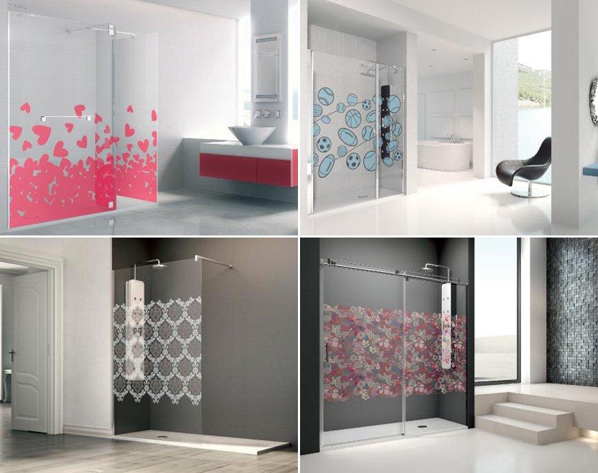 Mamparas de ducha imaginativas profiltek decoraci n del for Fotos de mamparas de ducha