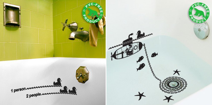 Stickers para el cuarto de ba o decoraci n del hogar - Vinilo para azulejos de bano ...