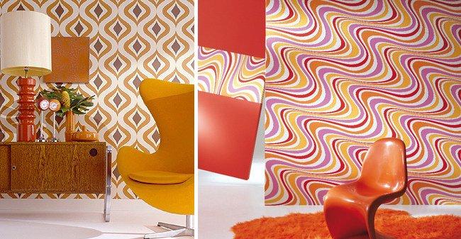 Ideas para una decoraci n retro al estilo de los a os 60 decoraci n del hogar Papel pintado anos 70