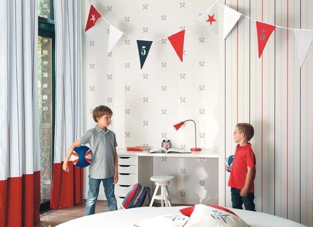 Papel pintado para habitaciones infantiles casadeco papel - Habitaciones papel pintado ...