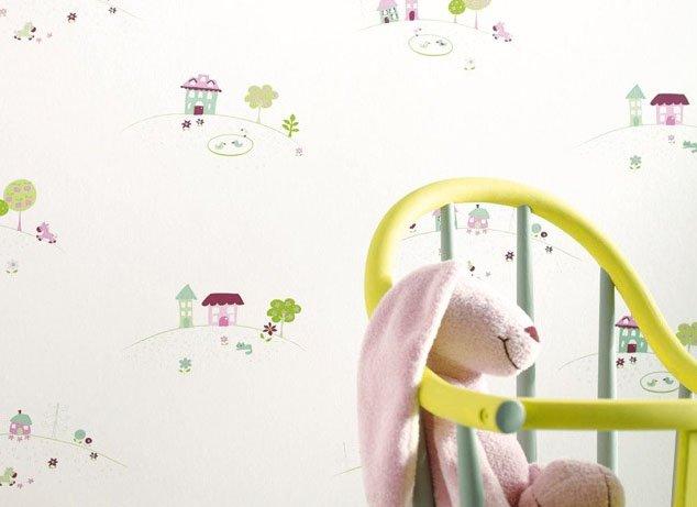 Papel pintado infantil casadeco decoraci n del hogar - Papeles pintados originales ...