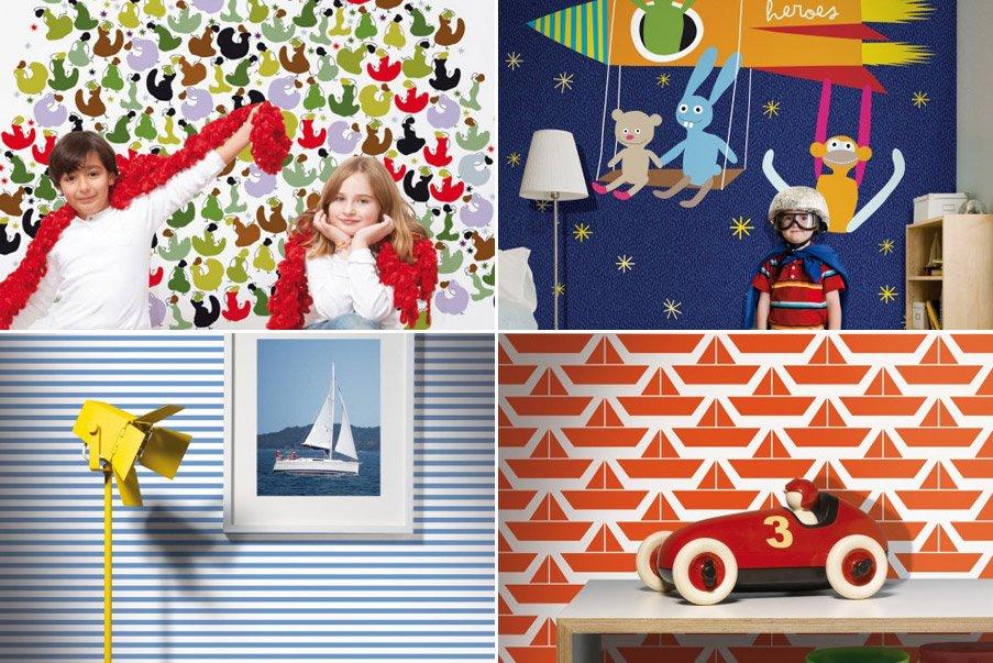 Papel pintado infantil coordonn decoraci n del hogar - Papel pintado para habitaciones ...