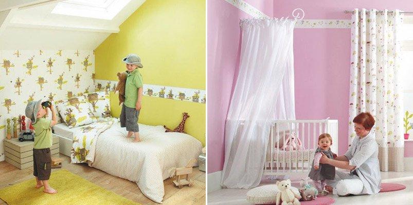 Papel pintado infantil Casadeco. Decoración del hogar.