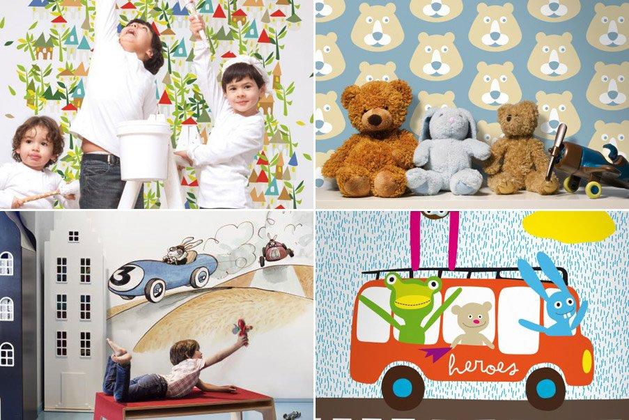 Papel pintado infantil coordonn decoraci n del hogar for Papel pintado ninos