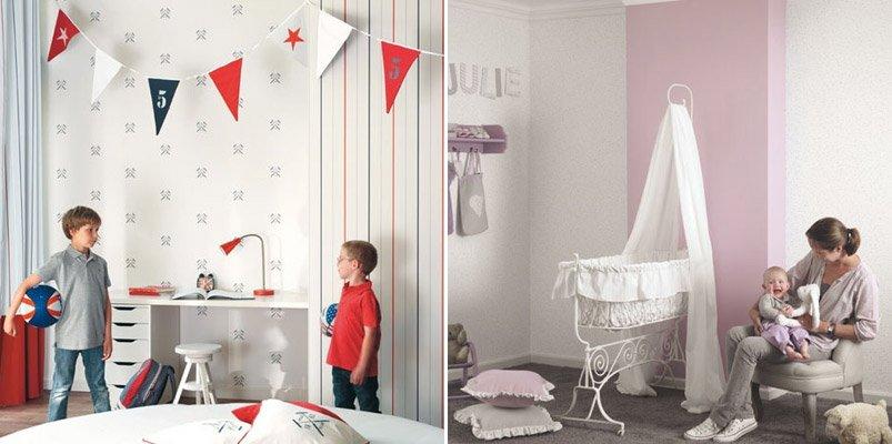 Papel pintado infantil casadeco decoraci n del hogar - Papel para habitaciones infantiles ...