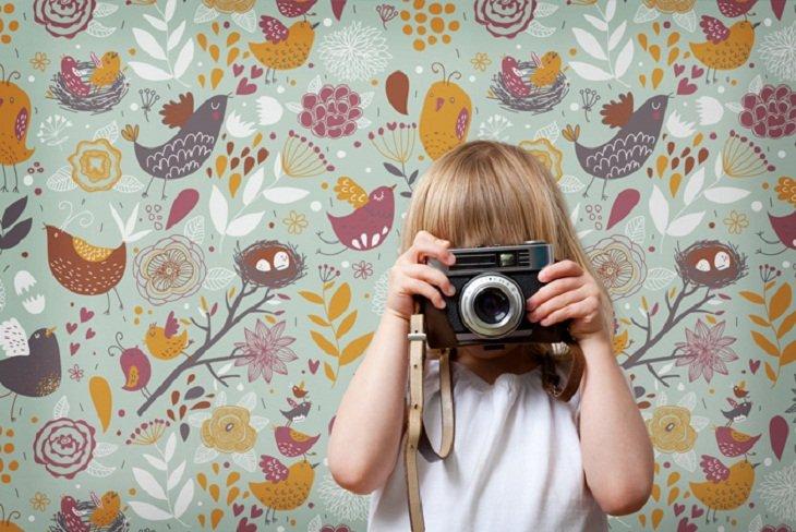 Papel pintado para habitaciones infantiles de muffin - Papeles pintados vintage ...