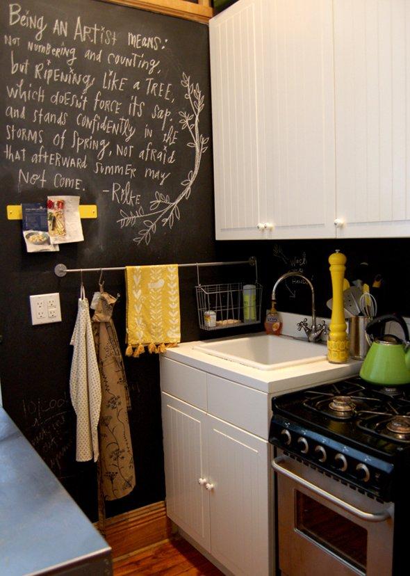 Paredes pizarra para cocinas decoraci n del hogar - Encimera de pizarra ...