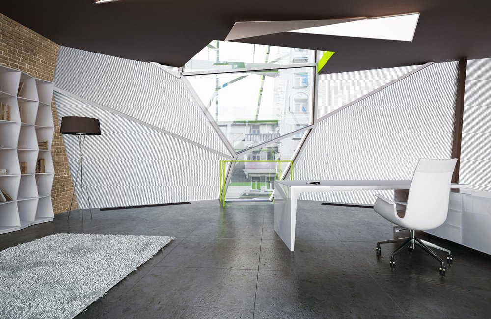 Oficina parasite en mosc decoraci n del hogar for Oficinas de diseno y arquitectura