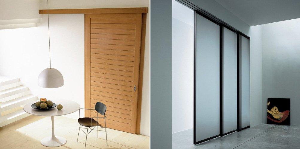 Puertas correderas para el interior de nuestro hogar for Puertas de madera interiores minimalistas