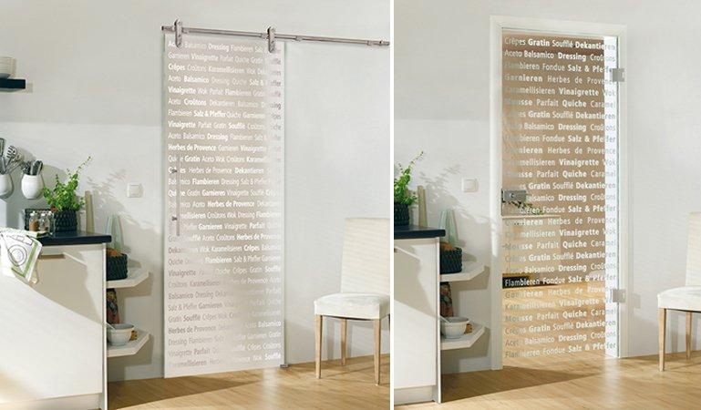 Puertas de cristal decorativo para la cocina decoraci n - Cocinas con puertas de cristal ...