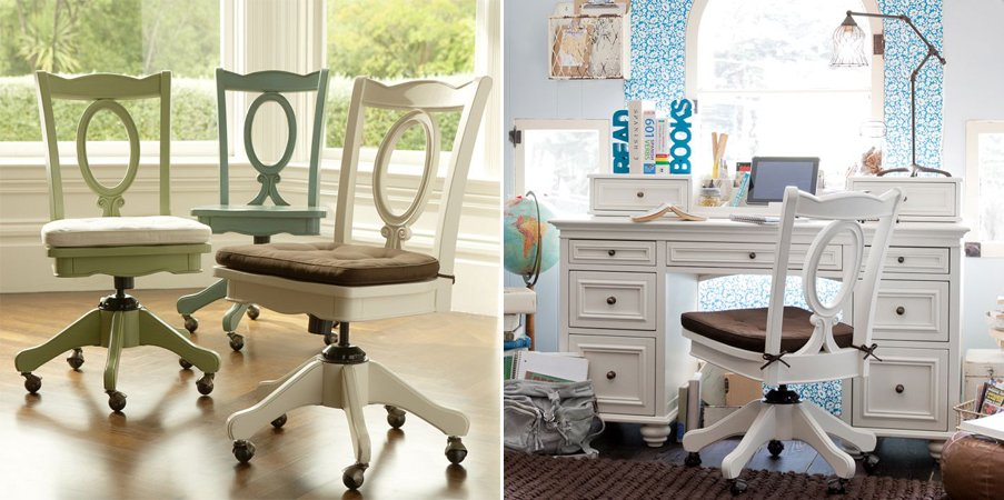 Sillas de oficina con estilo y color ii decoraci n del - Silla despacho blanca ...