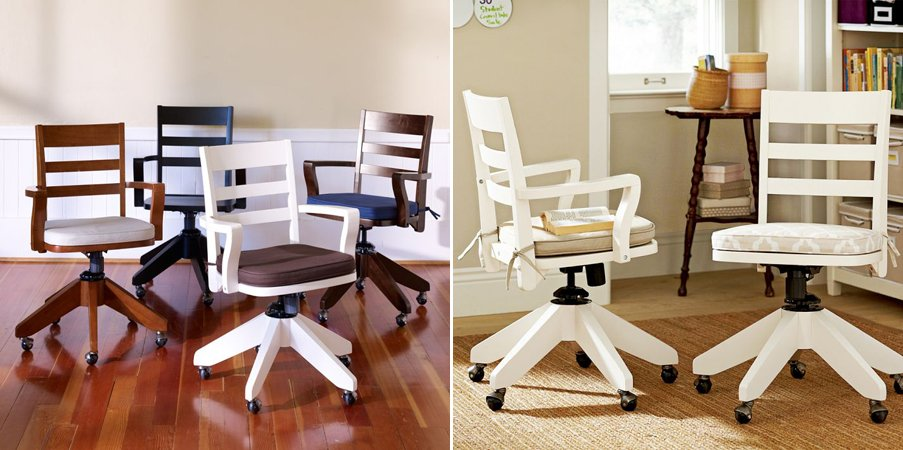 Sillas de oficina con estilo y color ii decoraci n del for Silla oficina madera