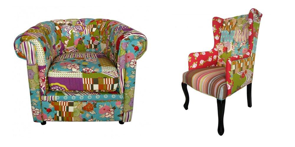 Muebles de estilo patchwork entran en nuestros hogares for Sillones de estilo
