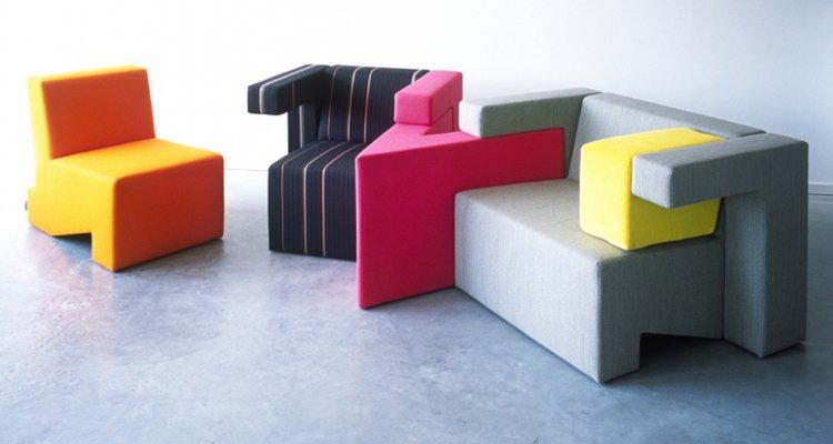 Colecci n de sof s modulares the gather decoraci n del hogar for Sofas rinconeras modulares