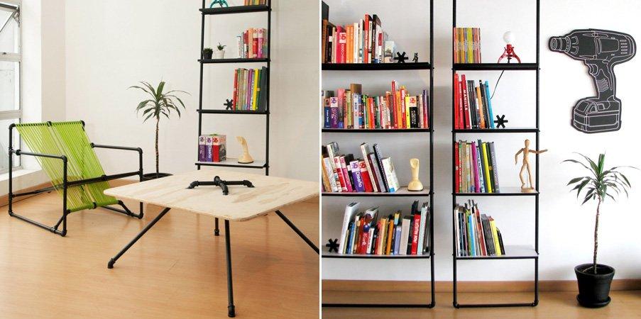 The Open Tap, mobiliario ecológico del estudio Dosuno Design