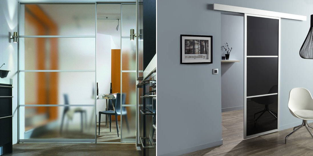 Ahorra espacio instalando puertas correderas decoraci n - Cortinas para puertas correderas ...