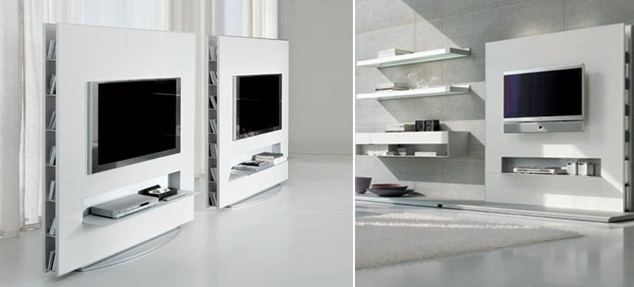 Muebles para tv en pared imagui for Muebles tv originales