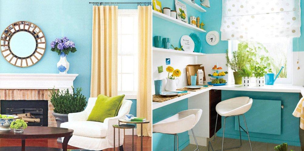 El azul en la decoraci n de interiores ii decoraci n - Colores que pegan con el azul ...