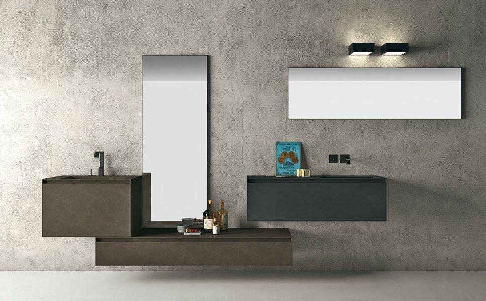 Muebles De Baño Estilo Minimalista:Volo Green, cuarto de baño ecológico de Altamarea Decoración del
