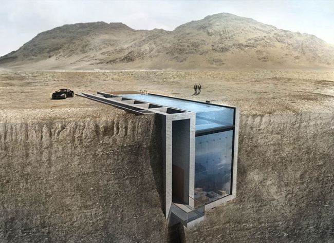 Casa con increibles vistas a un acantilado (2)