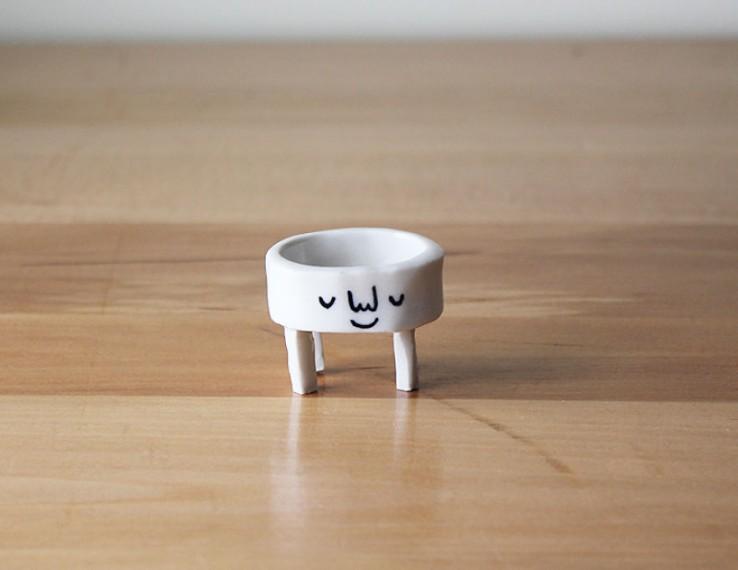 Delicados accesorios de ceramica de animales (9)