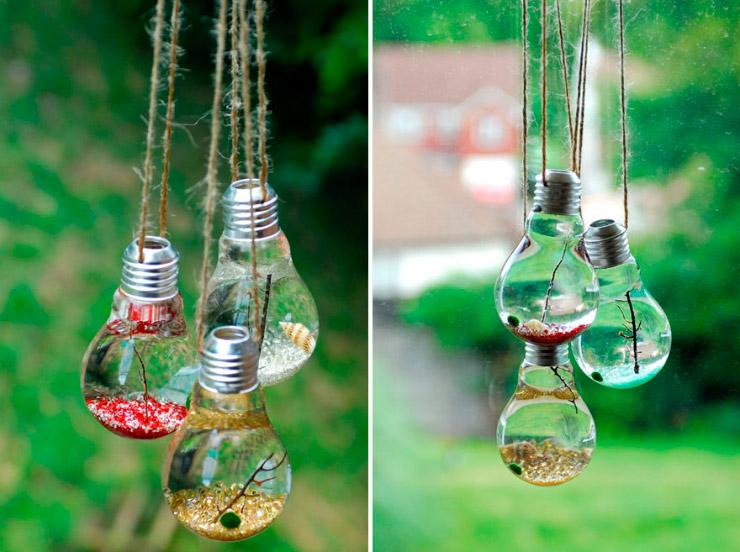 Ideas para reciclar bombillas viejas