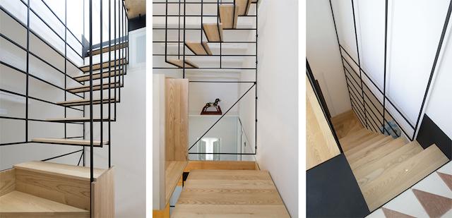 Original escalera flotante de madera (10)