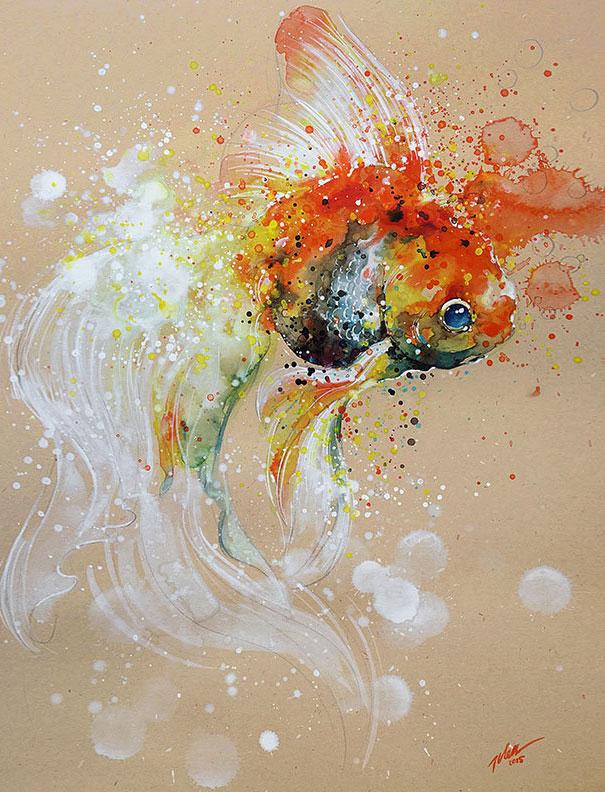 Originales cuadros de animales llenos de colorido (1)