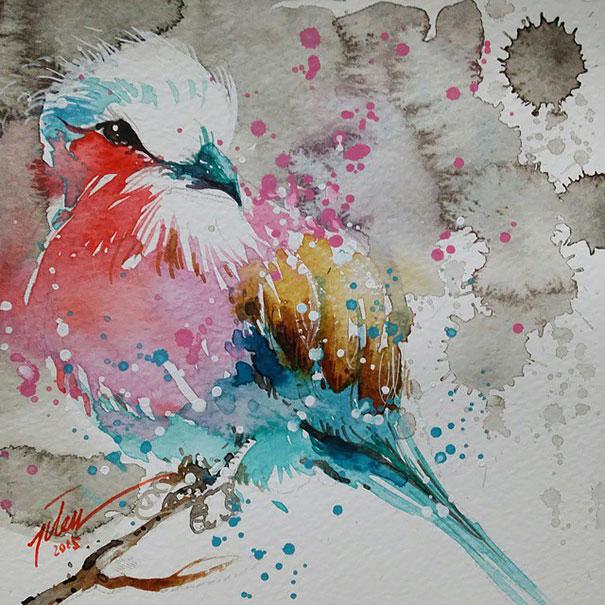 Originales cuadros de animales llenos de colorido (10)