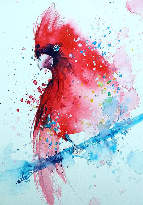 Originales cuadros de animales llenos de colorido (14)