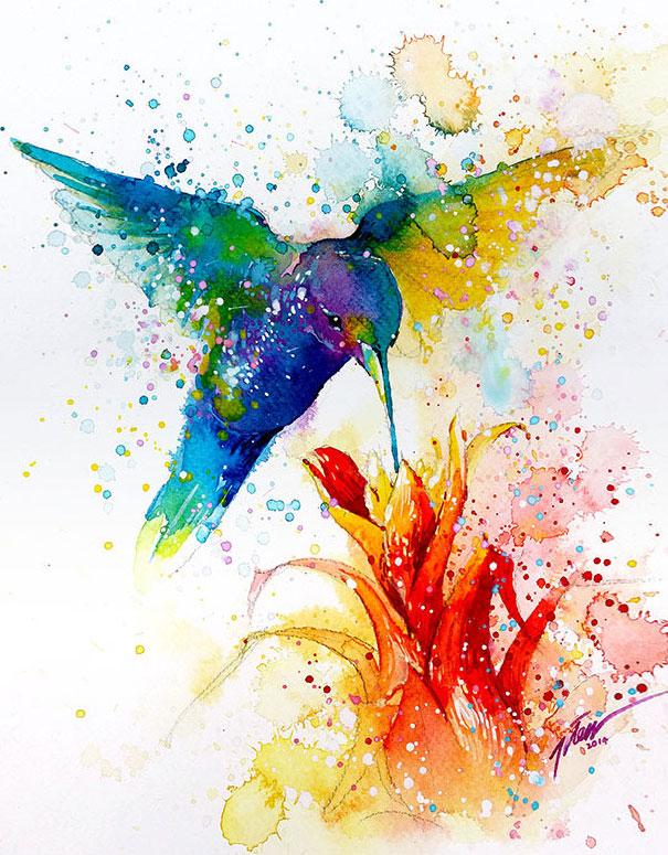 Originales cuadros de animales llenos de colorido (15)