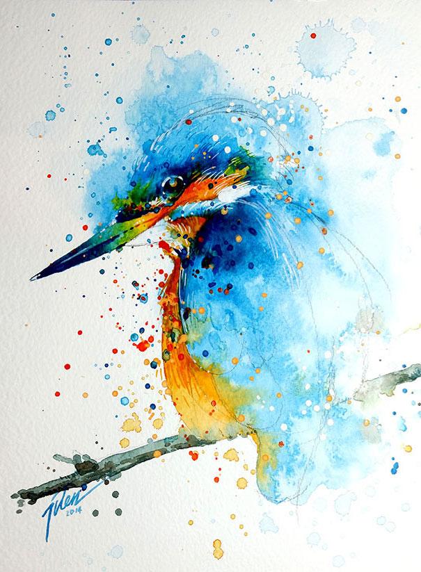 Originales cuadros de animales llenos de colorido (2)