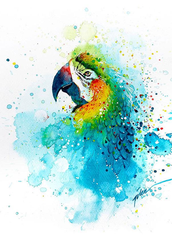 Originales cuadros de animales llenos de colorido (3)