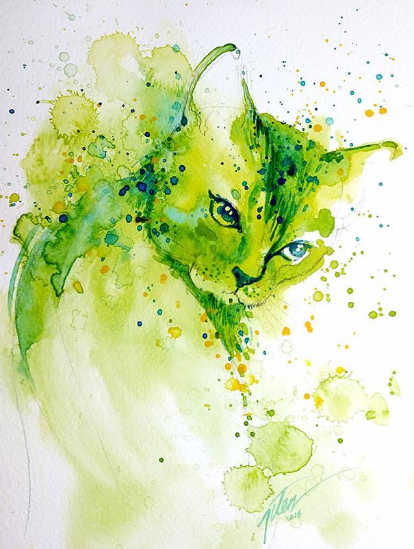 Originales cuadros de animales llenos de colorido (5)