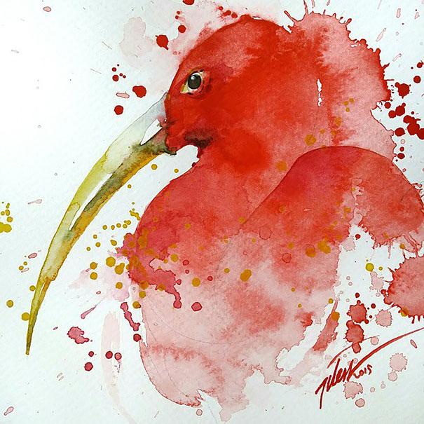 Originales cuadros de animales llenos de colorido (7)