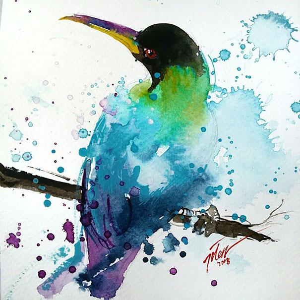 Originales cuadros de animales llenos de colorido (8)