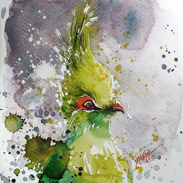 Originales cuadros de animales llenos de colorido (9)